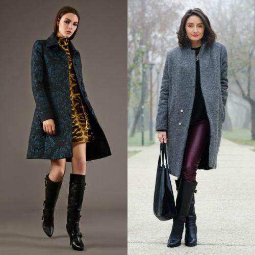 Пальто с какими сапогами носить. Пальто до колена, выше колена и ниже колена – подбираем обувь для каждого случая
