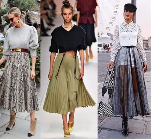 Расклешенные миди юбки 2020
