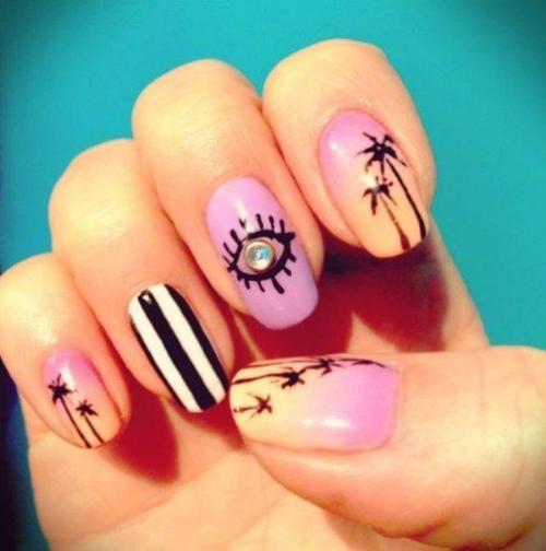 Маникюр на короткие ногти на море. Маникюр в морском стиле с тематическими рисунками