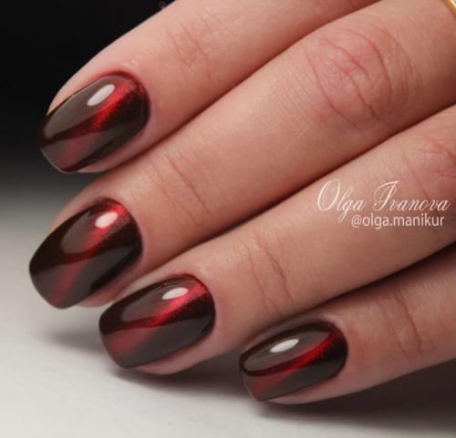 Дизайн ногтей красный с черным. Дизайн красно-черных ногтей омбре 2019-2020