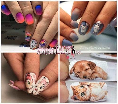Животные пошагово на ногтях. Особенности