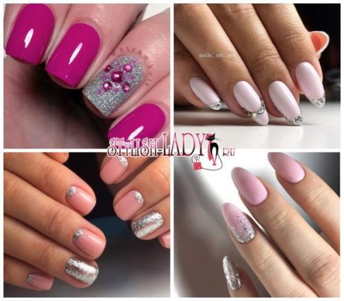 Маникюр розовый с серебром. Преимущества розово-серебристого дизайна