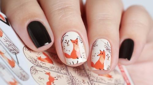 Рисунки на ногтях животные. Маникюр с животными