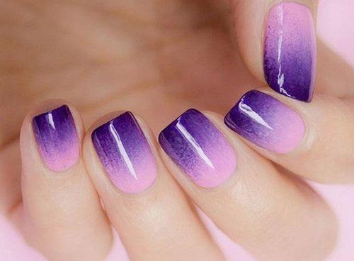 Дизайн ногтей с переходом цвета. Создаем модный дизайн