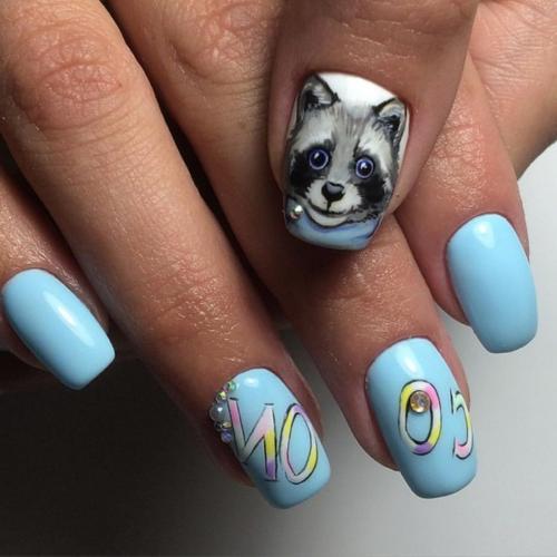 Животные на ногтях маникюр. Модные тенденции маникюра с животными