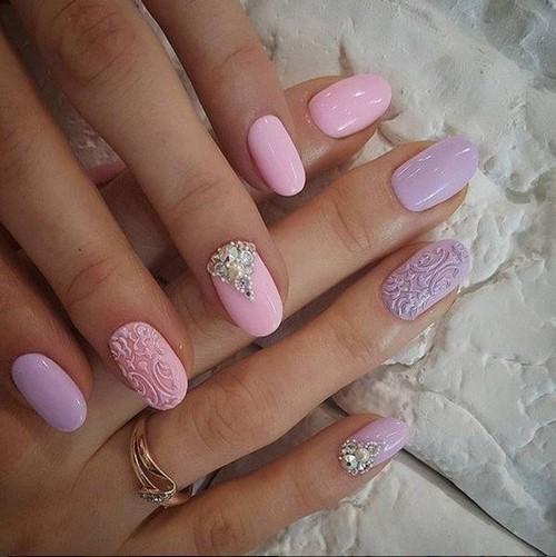 Маникюр нежно розовый гель лак. Нежный дизайн ногтей: оттенки, особенности выполнения, техники