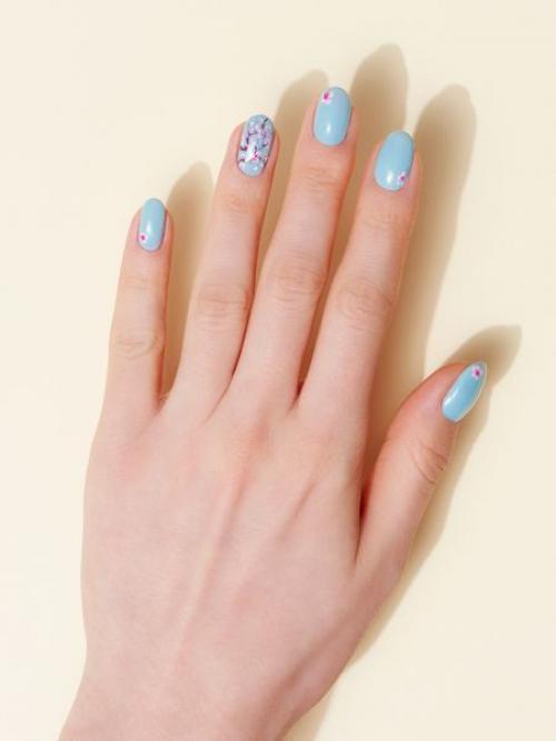 Маникюр с цветами сакуры. Веточка сакуры на ногтях: пошаговая инструкция