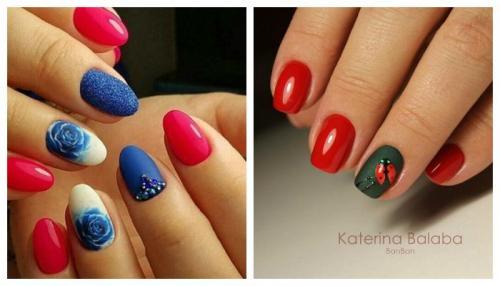 Красный с белым маникюр. Красные ногти: сочетание цветов