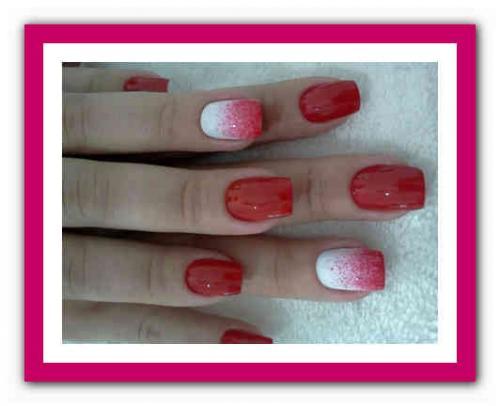 Маникюр красный и белый. Красные ногти: сочетание цветов 13