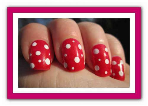 Маникюр красный и белый. Красные ногти: сочетание цветов 09