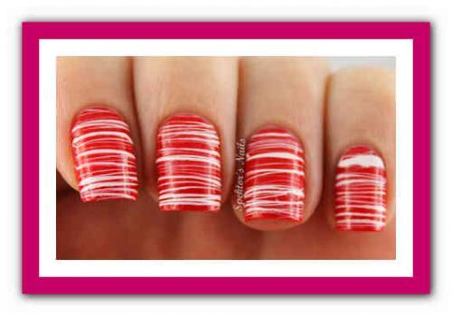 Маникюр красный и белый. Красные ногти: сочетание цветов 12