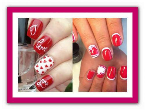Маникюр красный и белый. Красные ногти: сочетание цветов 07