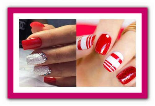 Маникюр красный и белый. Красные ногти: сочетание цветов 10