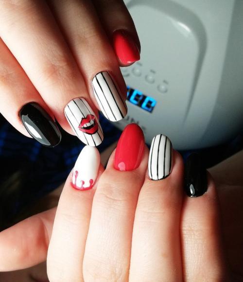 Дизайн ногтей на каждый день. Маникюр на каждый день. Интересные идеи #7