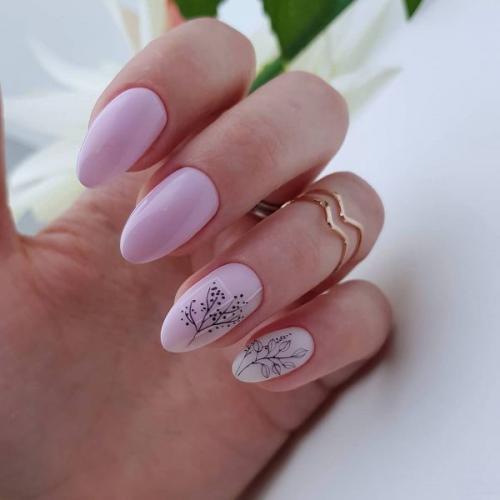Дизайн ногтей розовый черный. Нет приделу нежности: красивый розовый дизайн ногтей 2019-2020 нежных оттенков
