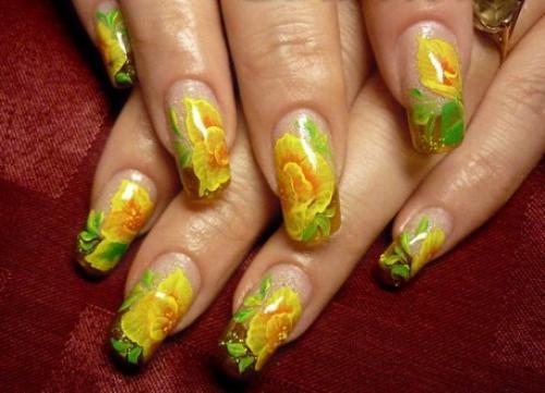 Роспись на ногтях по шеллаку для начинающих пошагово. Китайская манера рисования
