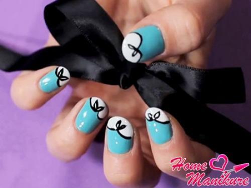 Как нарисовать бантик на ногтях. Нежный дизайн ногтей с бантиками