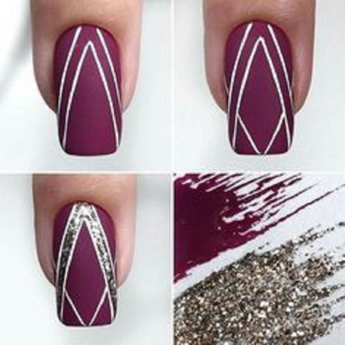 Рисунки на ногтях для начинающих поэтапно. Геометрические мотивы