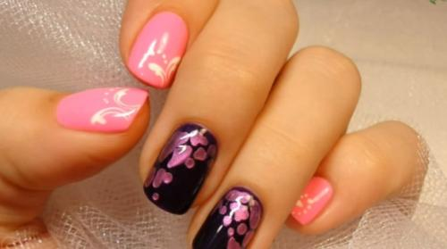 Пошагово рисунки цветов на ногтях. Рисунки на ногтях гель-лаком