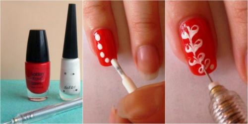 Рисунки на ногтях простые. Рисунки с помощью иголки