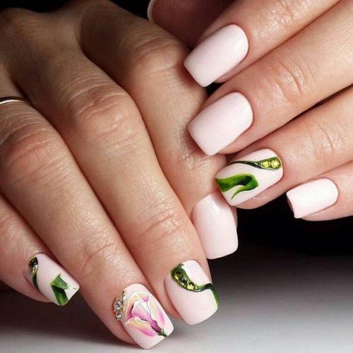 Пошагово иголкой рисунки на ногтях. Цветы