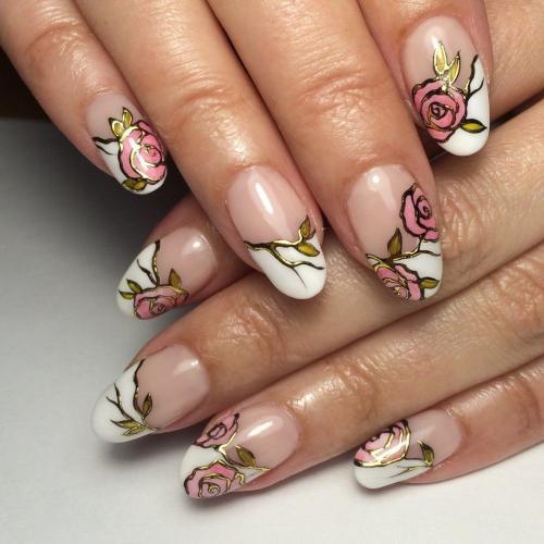 Рисовать цветочки на ногтях. Маникюр с рисунком цветов: техники нанесения