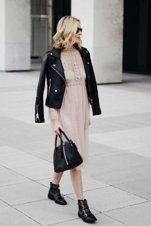 С чем носить платье чулок ниже колена. Верхняя одежда