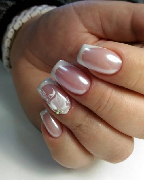 Маникюр вишневый с втиркой. Какую втирку выбрать для дизайна ногтей