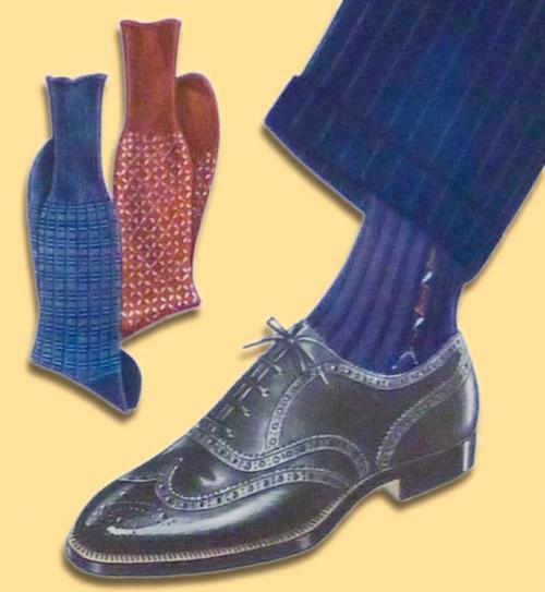 Белые носки под черные туфли и брюки. Обувь для города