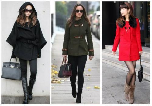 Как сочетать обувь и пальто. С какой обувью носить женское пальто до колена?