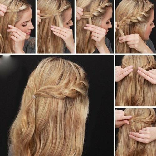 Как заколоть волосы средней длины быстро. Варианты на стрижку средней длины