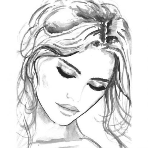 Рисунки для срисовки девушки. Рисунки девушек для срисовки легкие — 16 фото