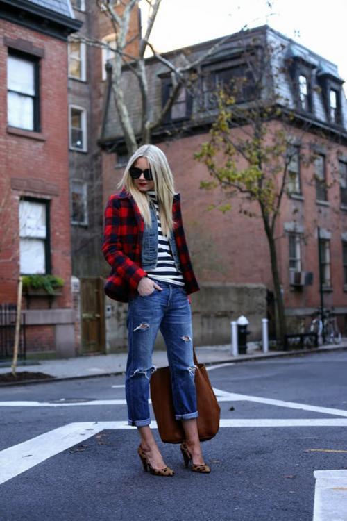 Как носить рваные джинсы осенью. [:RU]Как носить рваные джинсы осенью и зимой.[:]