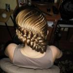 Фото - урок красивой и оригинальной косы.