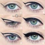 Идеальные стрелочки.  С помощью этой техники, вы нарисуете идеально ровные и симметричные стрелки на обоих глазах?