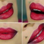 Как сделать эффект омбре на губах: пошаговый урок.