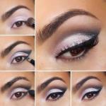 Блистательный макияж.  1. нанесите светлый перламутровый оттенок на подвижное веко.