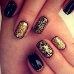 Самым дорогим и роскошным сочетанием цветов всегда будет черный и золото.