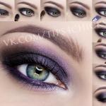 Purple.  1. в качестве основы используйте черные кремовые тени.